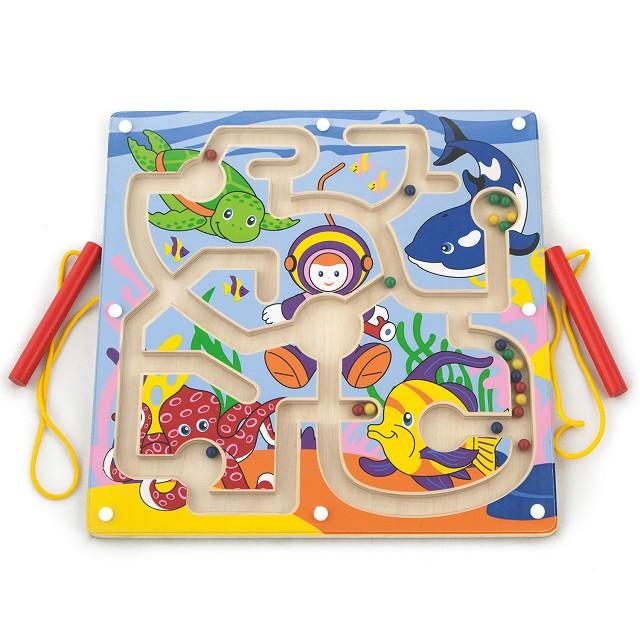Магнитна дъска - Морско дъно с магнитни пръчици от Viga toys-bellamiestore