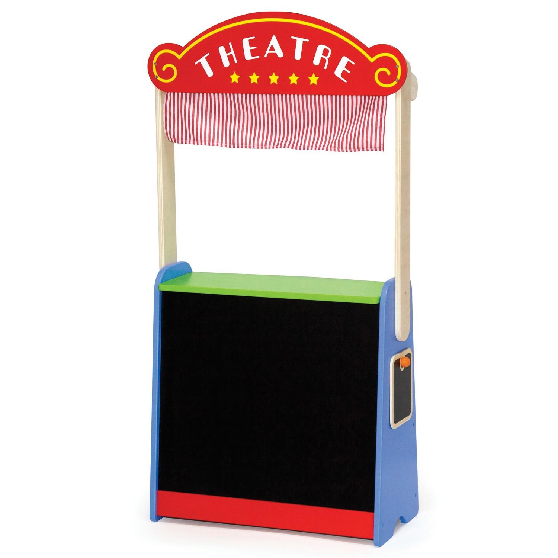 Детска дървена играчка - магазин и театър 2 в 1(1)-bellamie