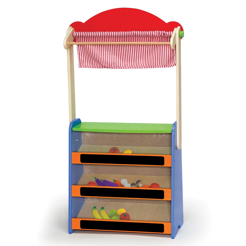 Детска дървена играчка - магазин и театър 2 в 1(2)-bellamie