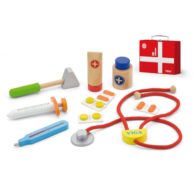Детски докторски комплект - детска дървена играчка - Bellamie
