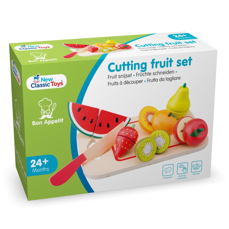 Плодове с дъска за рязане-аксесоар за детска дървена кухня-дървени играчки(2)-bellamie