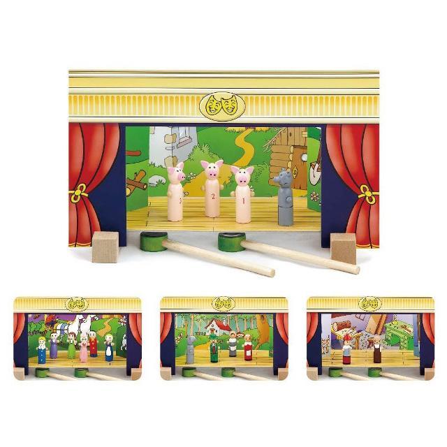 Дървен магнитен театър-образователни играчки-ролеви игри(3)-bellamie