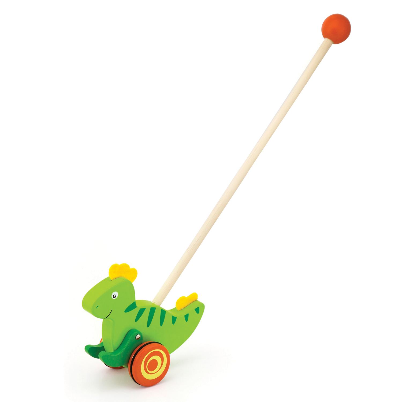 Дървена буталка Динозавър- проходилки и буталки от Viga toys-bellamiestore