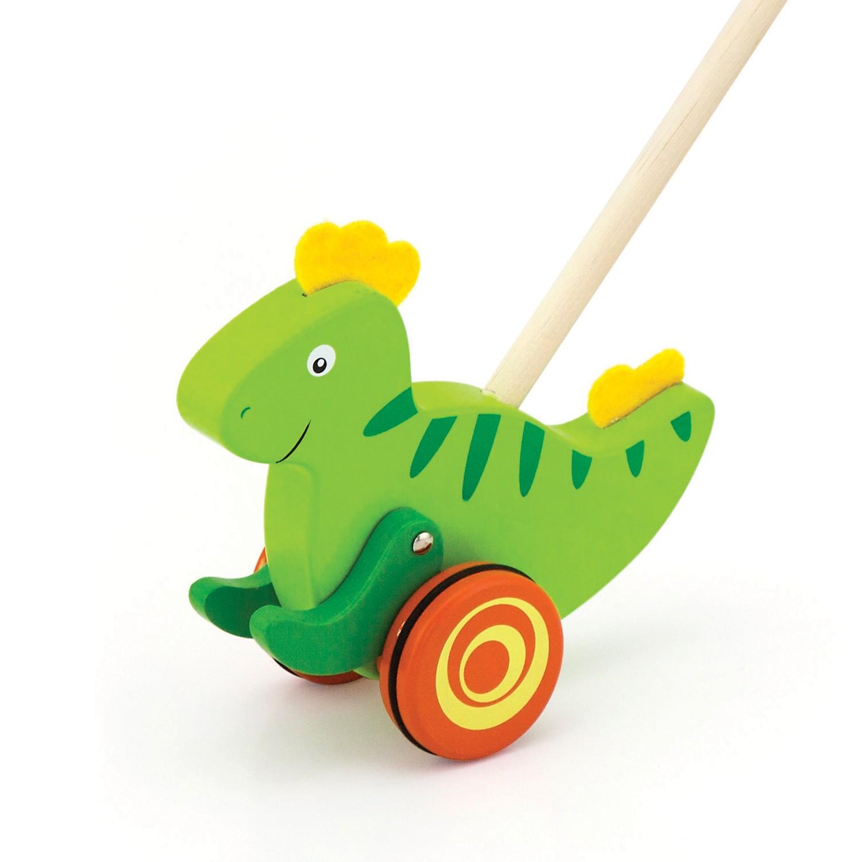 Дървена буталка Динозавър- проходилки и буталки от Viga toys(1)-bellamie