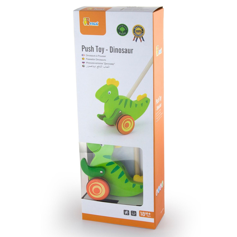 Дървена буталка Динозавър- проходилки и буталки от Viga toys(2)-bellamie