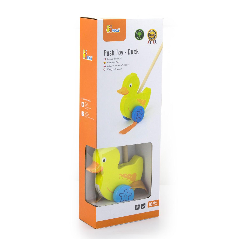 Дървена буталка Пате- дървени проходилки и буталки от Viga toys-bellamiestore