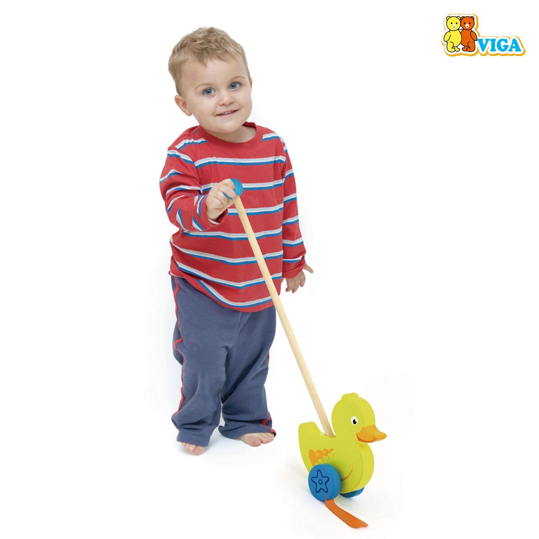 Дървена буталка Пате- дървени проходилки и буталки от Viga toys-bellamiestore(3)-bellamiestore