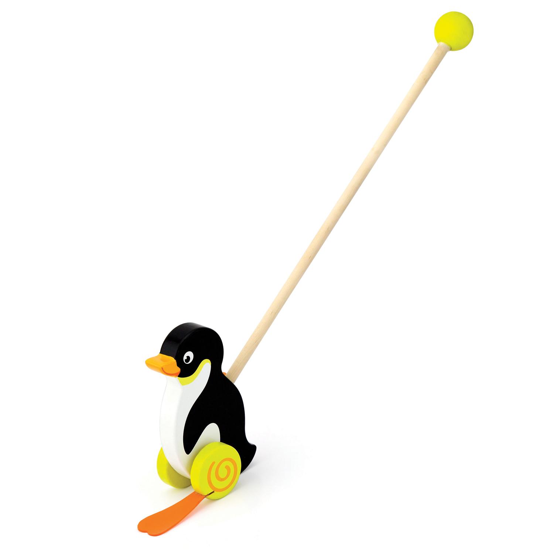 Дървена буталка Пингвин - дървени проходилки и буталки от Vigatoys(1)-bellamiestore