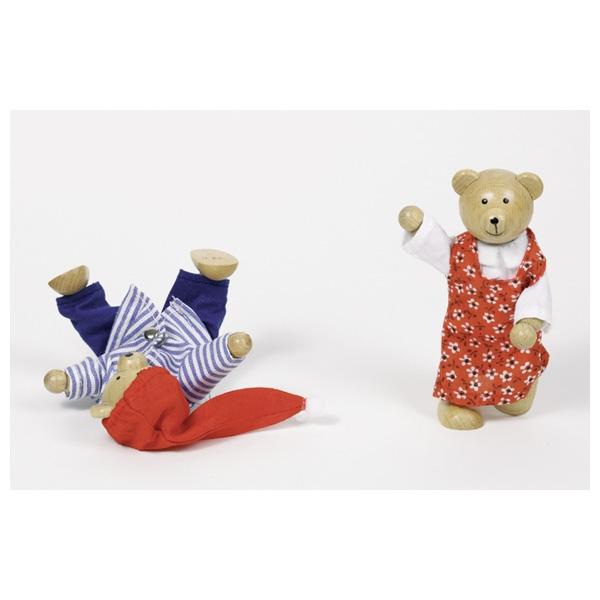 Дървена играчка да облечем Мечо и Меца от Goki-bellamiestore