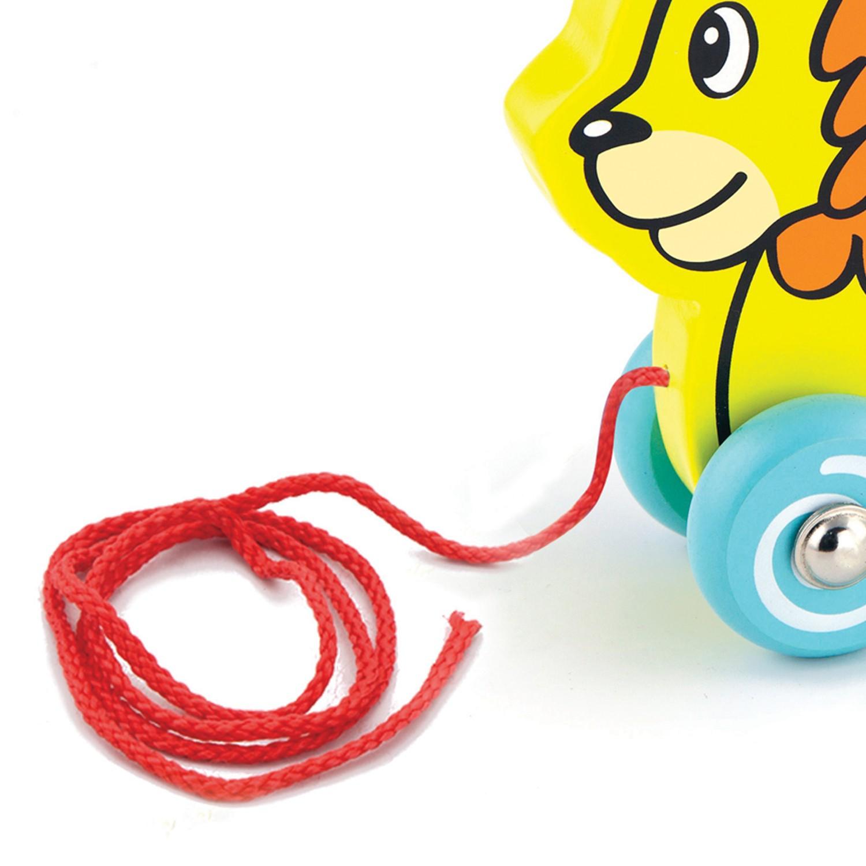 Детска дървена играчка за дърпане – лъвче от Viga Toys