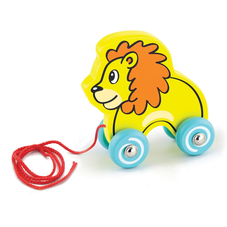 Детска дървена играчка за дърпане - лъвче от Viga Toys-Bellamie
