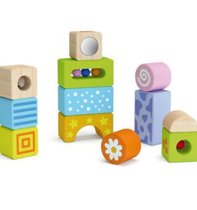 Сензорни музикални блокчета - Дървена играчка - Bellamie