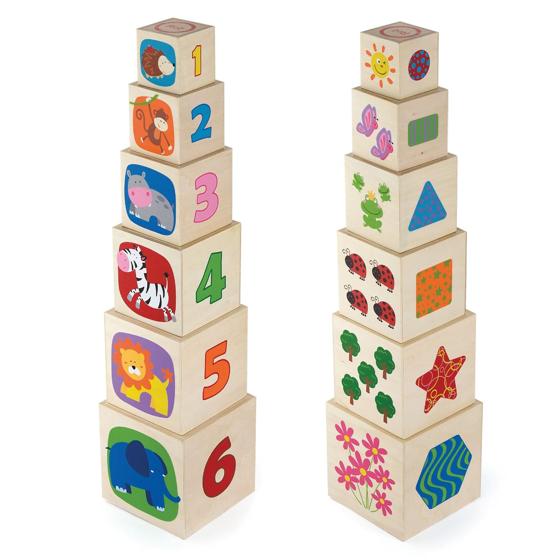 Дървени кубчета- Детски дървени играчки -Bellamie
