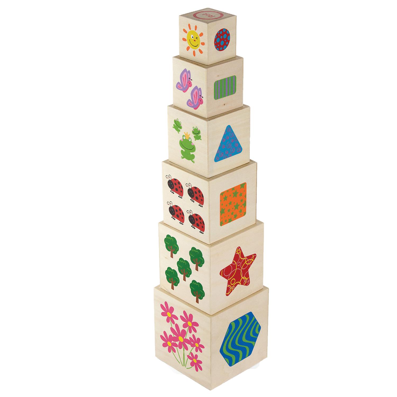 Дървени кубчета- Детски дървени играчки - Bellamie
