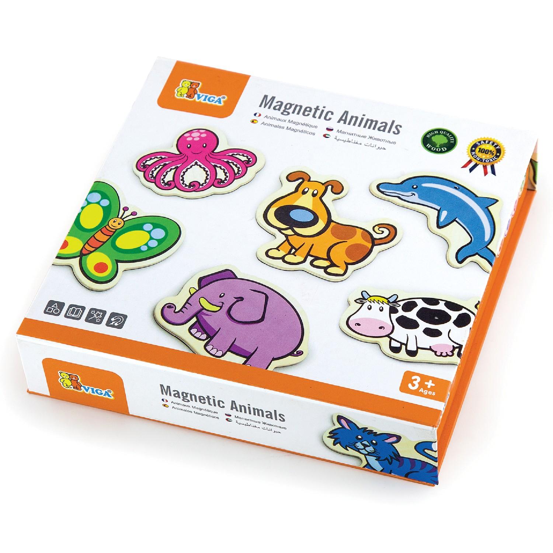Магнитни животни 20 броя- дървени образователни играчки от Viga toys-bellamiestore