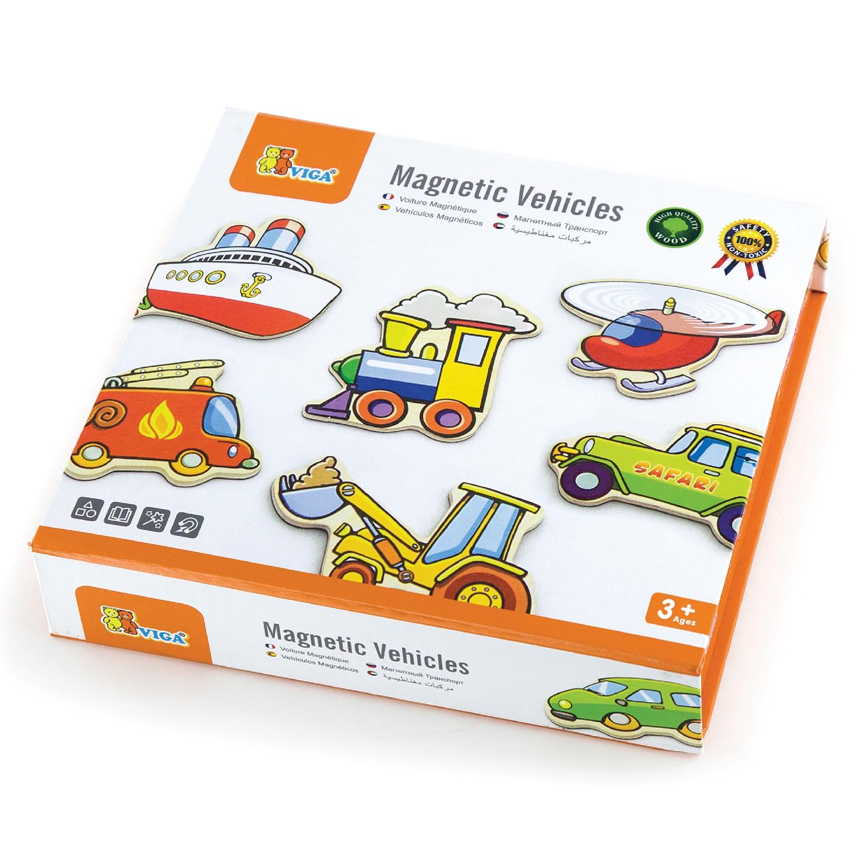 Дървени магнитни автомобила-образователни играчки за превозни средства от Viga toys-bellamiestore