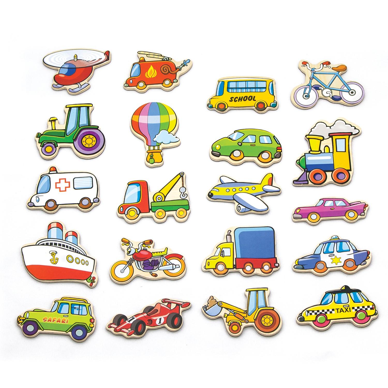 Дървени магнитни автомобила-образователни играчки за превозни средства от Viga toys(1)-bellamiestore