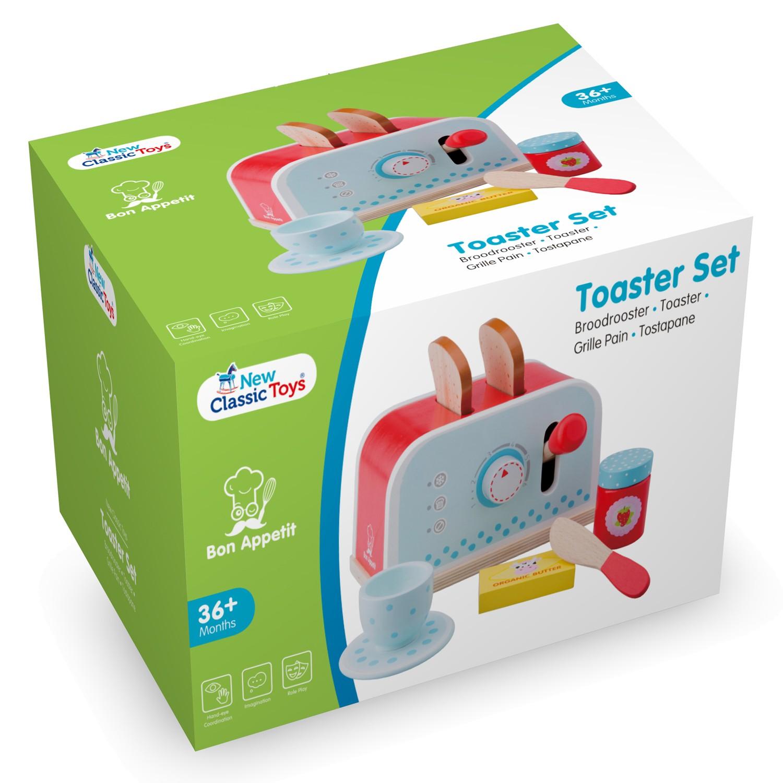 Тостер-Детски играчки за момичета-детска-дървена-кухня-ролеви игри(5)-Bellamie