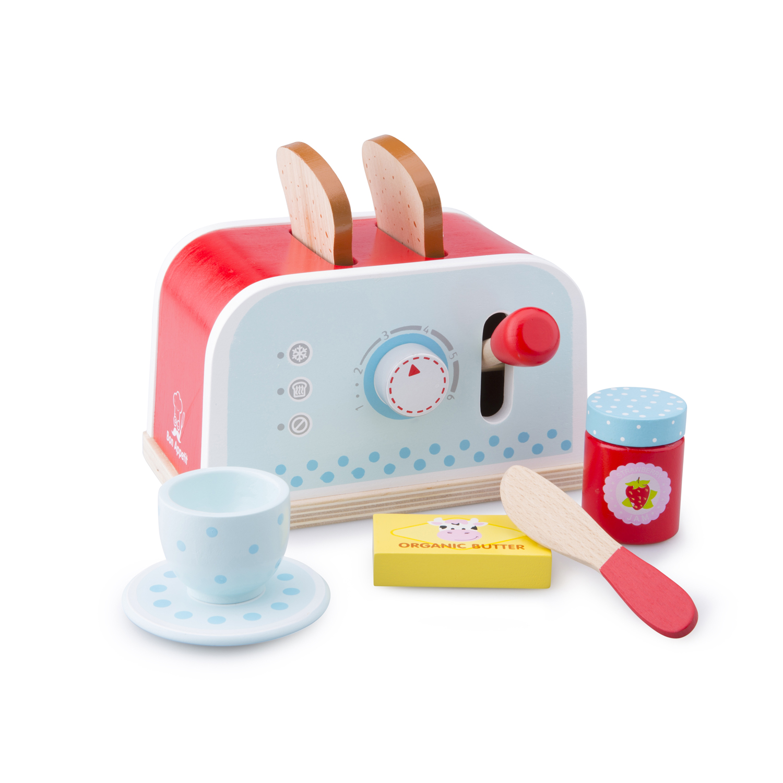 Тостер-Детски играчки за момичета-детска-дървена-кухня-ролеви игри-Bellamie