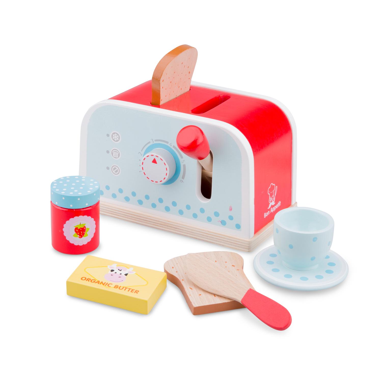 Тостер-Детски играчки за момичета-детска-дървена-кухня-ролеви игри(1)-Bellamie