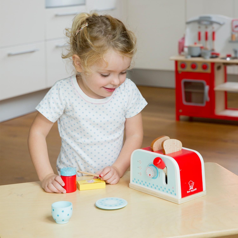 Тостер-Детски играчки за момичета-детска-дървена-кухня-ролеви игри(2)-Bellamie