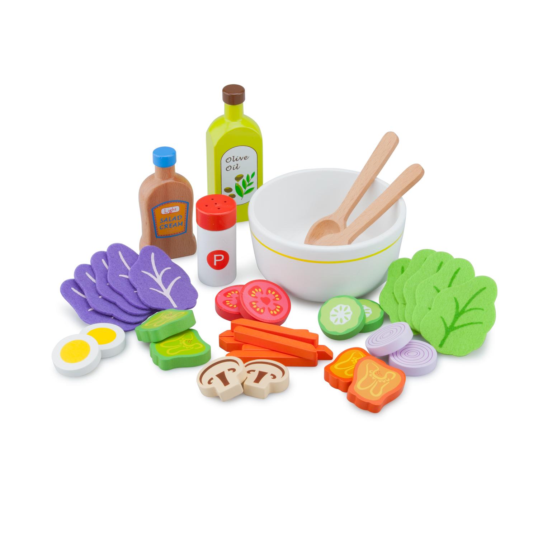 Комплект за правене на салата- аксесоар за детска дървена кухня-bellamie