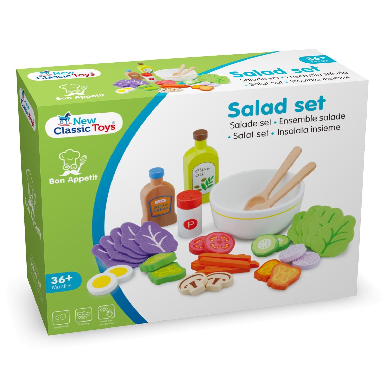 Комплект за правене на салата- аксесоар за детска дървена кухня(3)-bellamie