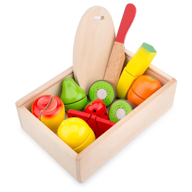 Плодове за рязане в кутия-аксесоари за детска дървена кухня-дървени играчки- bellamie