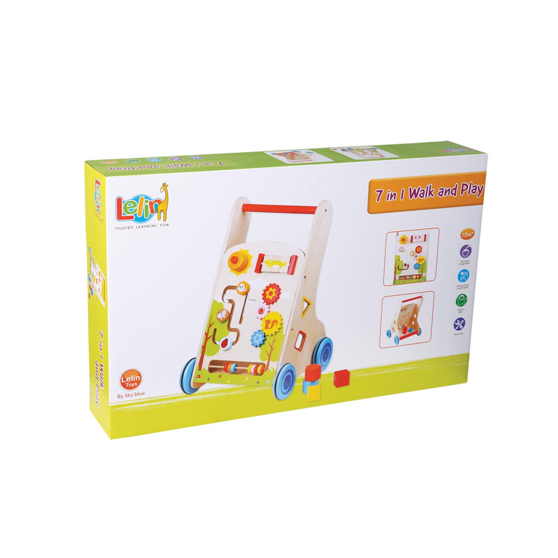 Детска дървена проходилка 7 в 1 от Lelin Toys-дървена играчка(2)-bellamie