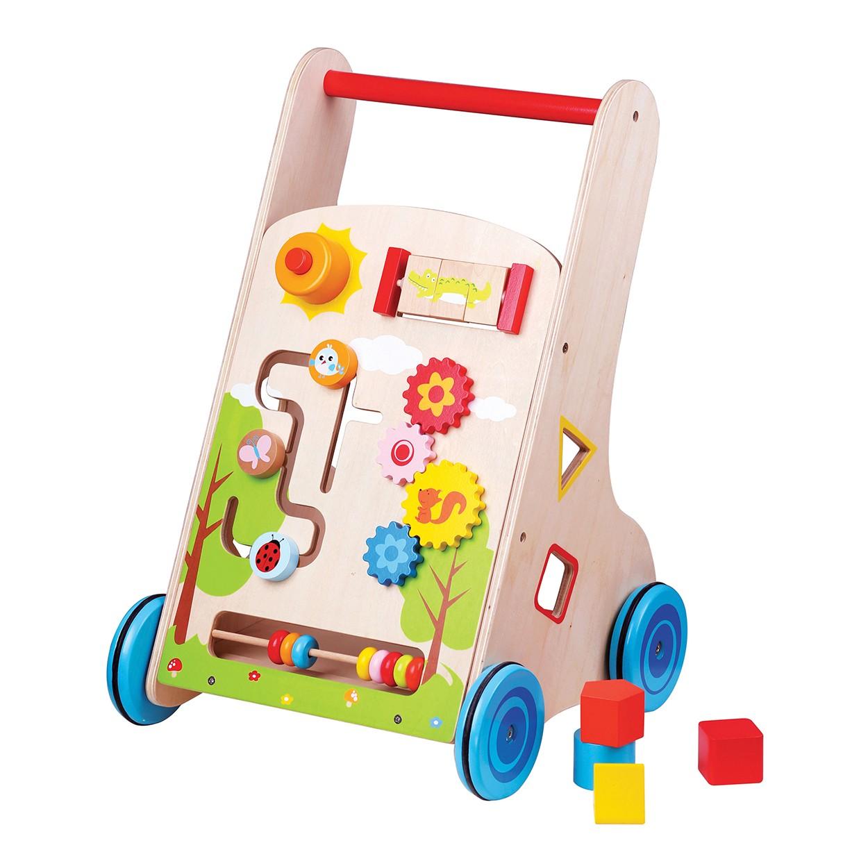 Детска дървена проходилка 7 в 1 от Lelin Toys-дървена играчка(1)-bellamie