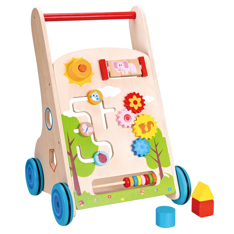 Детска дървена проходилка 7 в 1 от Lelin Toys-дървена играчка-bellamie