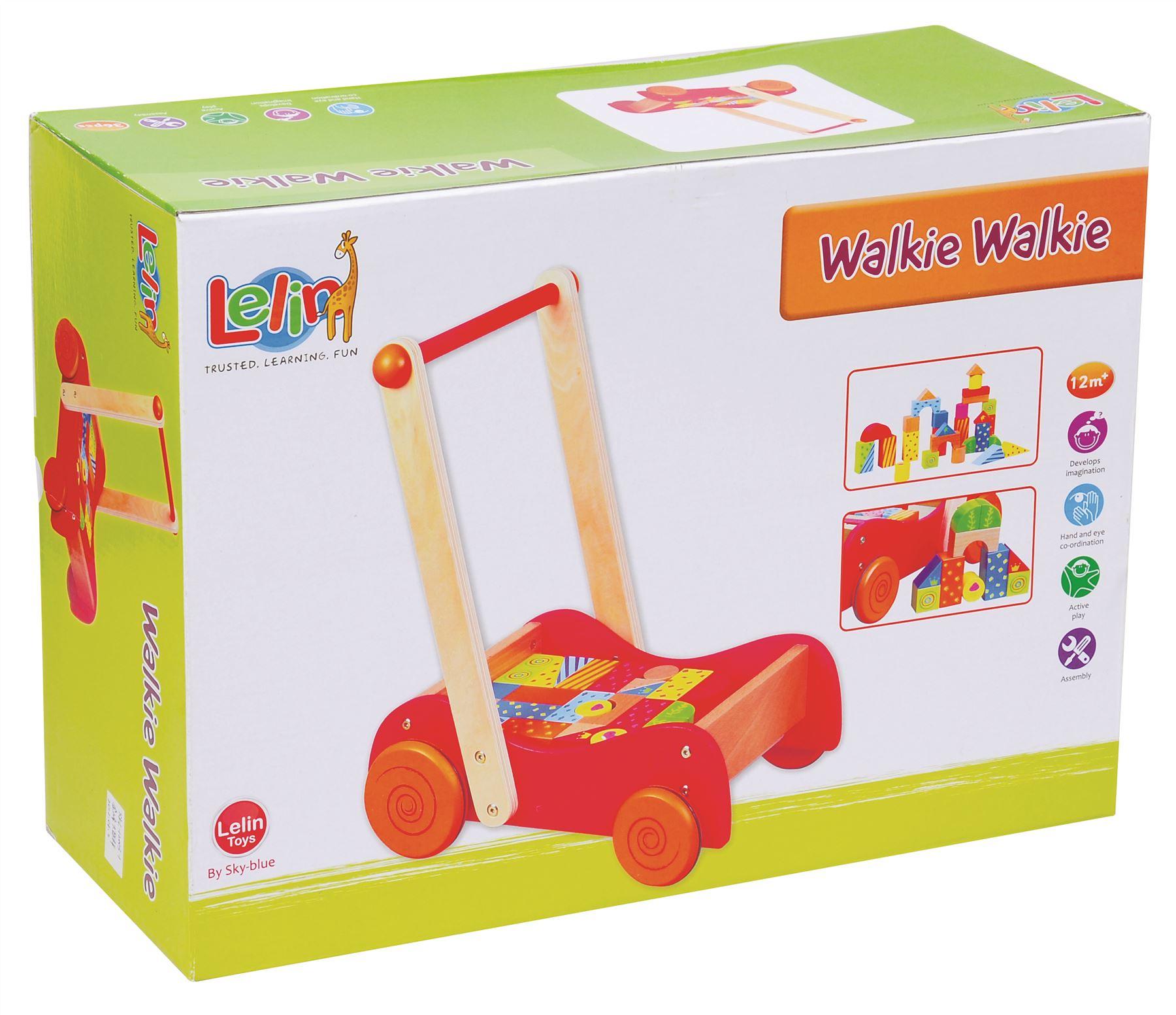 Детска дървена проходилка и конструктор 2 в 1- дървена играчка(4)-bellamie