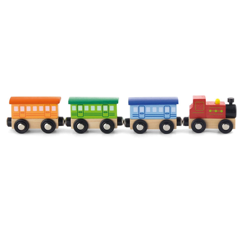 Детски дървен пътнически влак-Viga-Bellamie