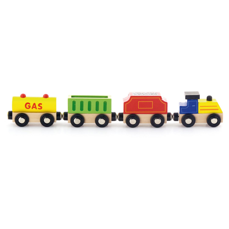 Детски дървен товарен влак-Viga-Bellamie