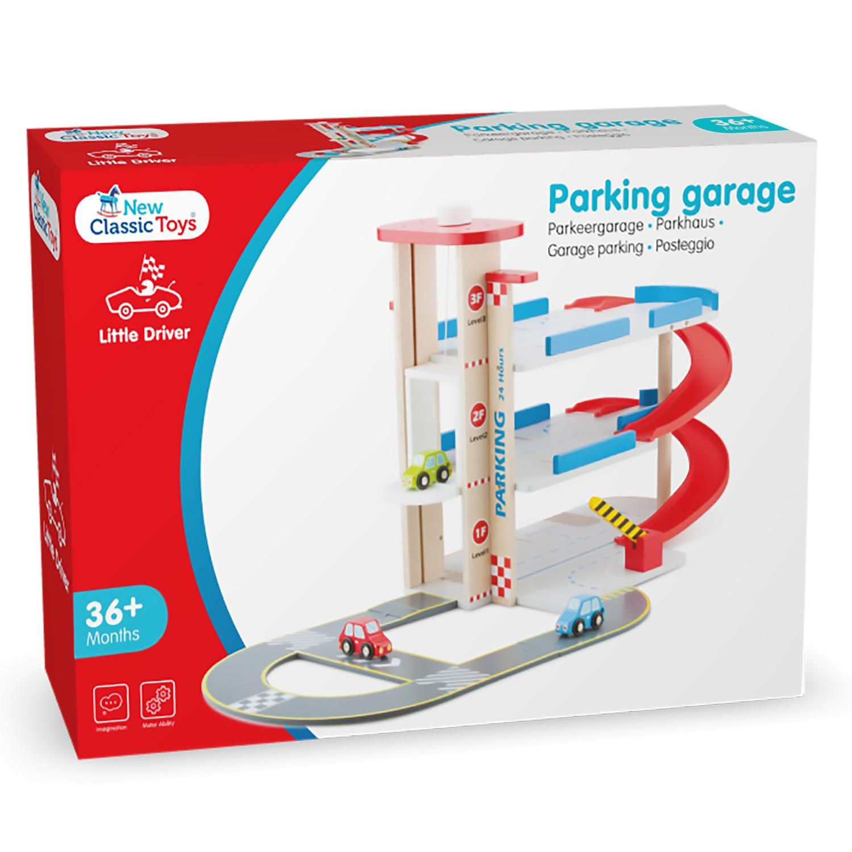 детски играчки за момчета-дървен гараж на три нива от New classic toys(2)-bellamie
