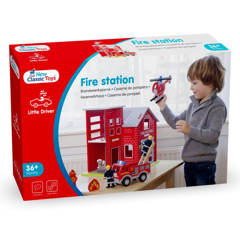 детски играчки за момчета-голяма дървена пожарна станция(3)-bellamie