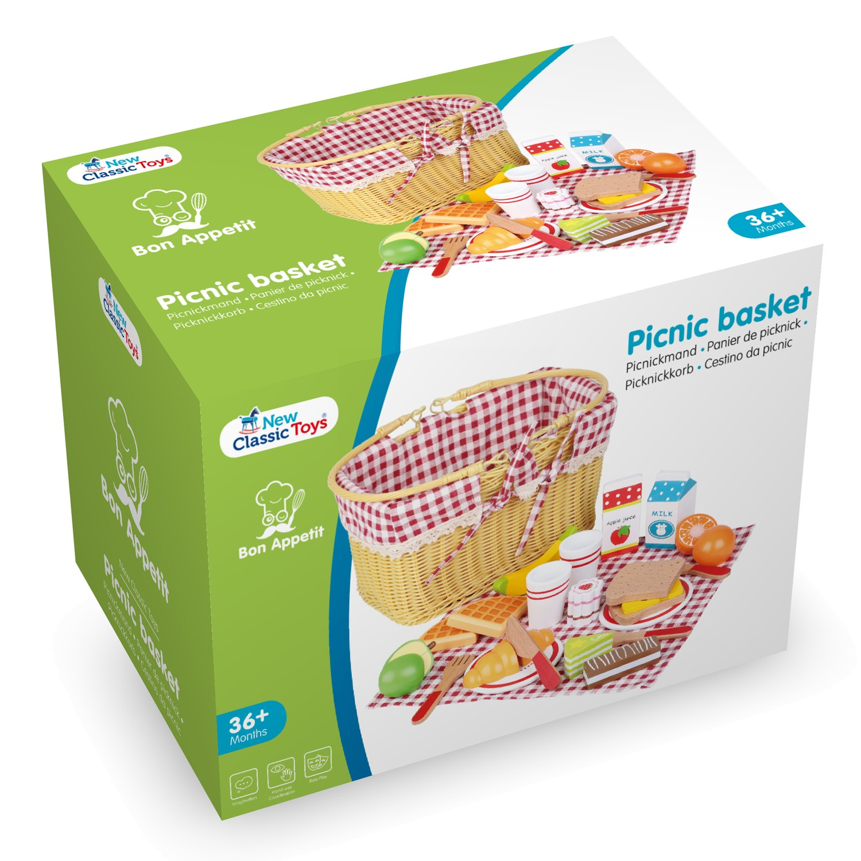 детски играчки за момичета-ролеви игри-дървена играчка-кошница за пикник(4)