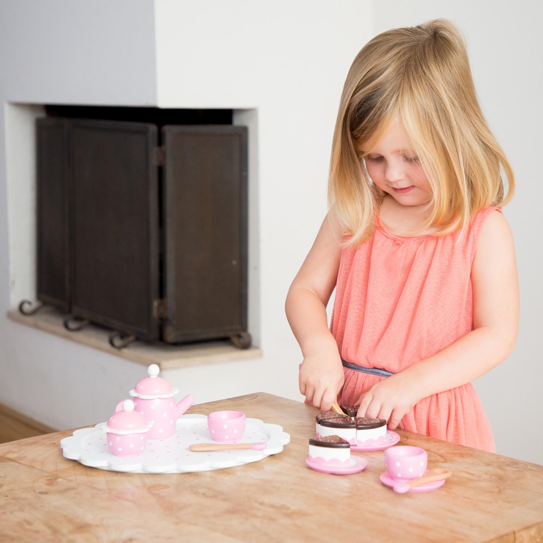 Детски играчки за момичета- дървен сервиз за кафе-аксесоар за детска дървена кухня(1)-bellamie