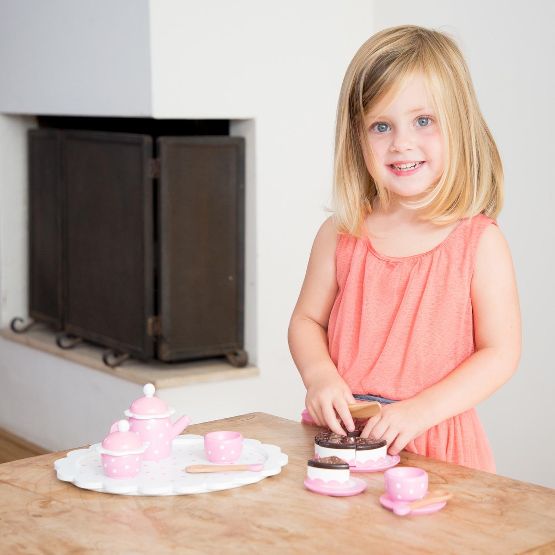 Детски играчки за момичета- дървен сервиз за кафе-аксесоар за детска дървена кухня(2)-bellamie