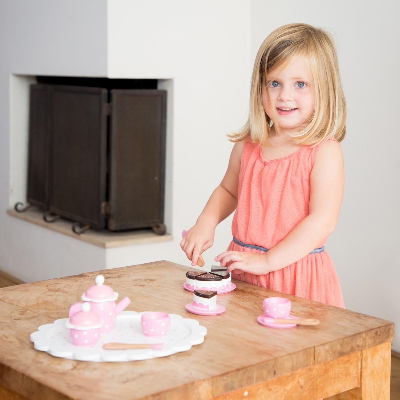 Детски играчки за момичета- дървен сервиз за кафе-аксесоар за детска дървена кухня(4)-bellamie
