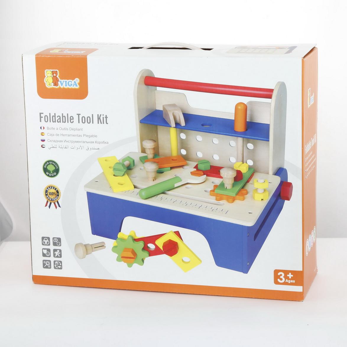 Дървена работилница и кутия с детски дървени инструменти- детски играчки за момчета-bellamie