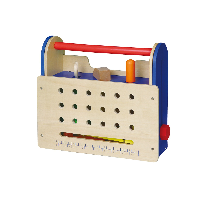 Дървена работилница сгъната маса от комплекта детски дървени инструменти от Viga toys-bellamie