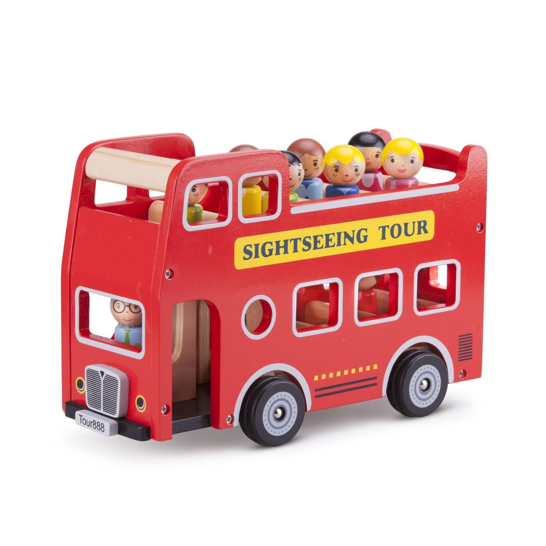 детски кубчета и сортери-дървен автобус за разходка-дървена играчка-bellamie