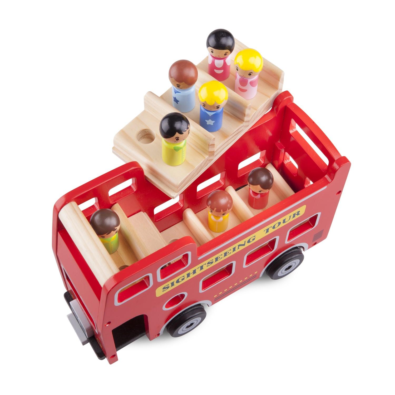 детски кубчета и сортери-дървен автобус за разходка-дървена играчка(1)-bellamie