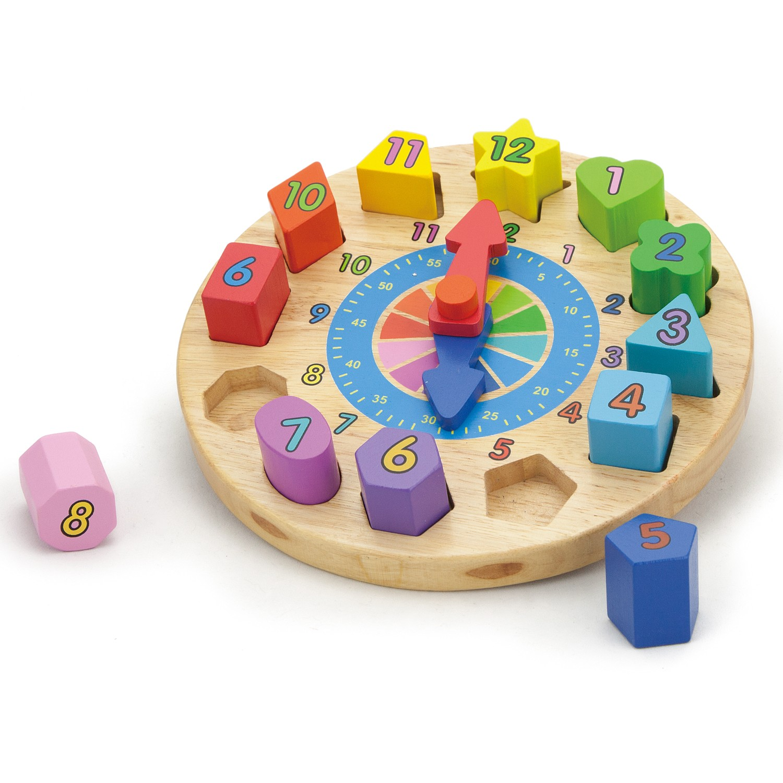 Детски пъзел -Часовник с форми-Viga toys-Bellamie