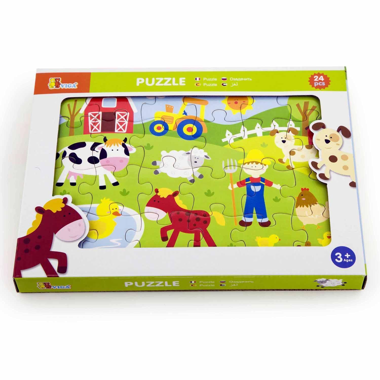 Детски пъзел-Живота в фермата