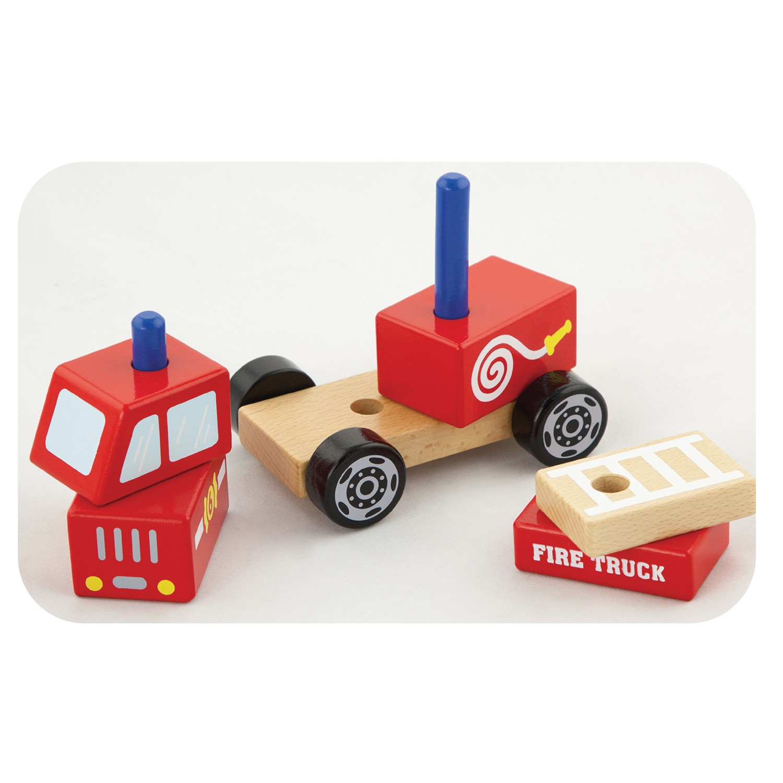 Детски пъзел- Пожарна-Viga toys-Bellamiestore