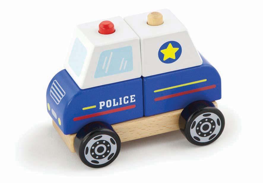 Детски пъзел-конструктор Полиция-Viga toys-Bellamiestore