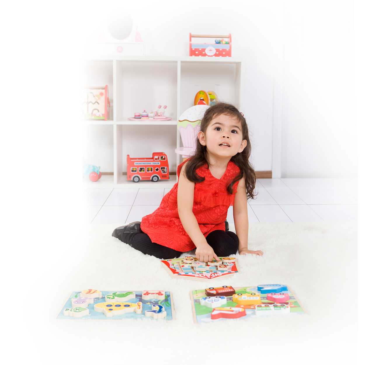 детски пъзел и лабиринт - Цирк - дървена играчка(1)-bellamie