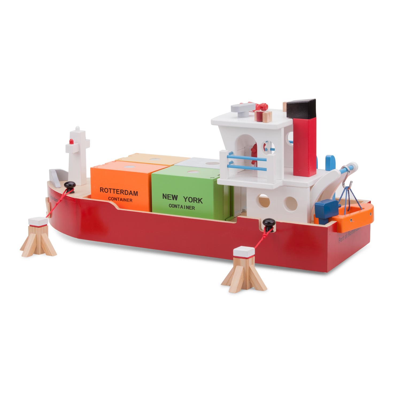 Детски играчки за момчета-дървен товарен кораб(3)-bellamie